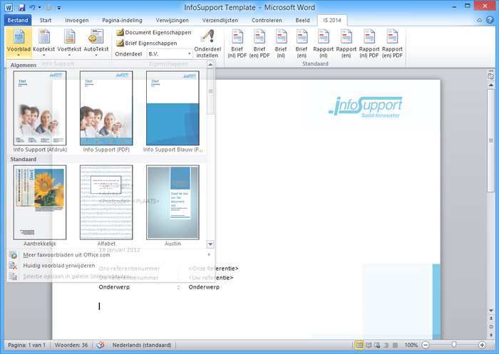 word template - huisstijl in office