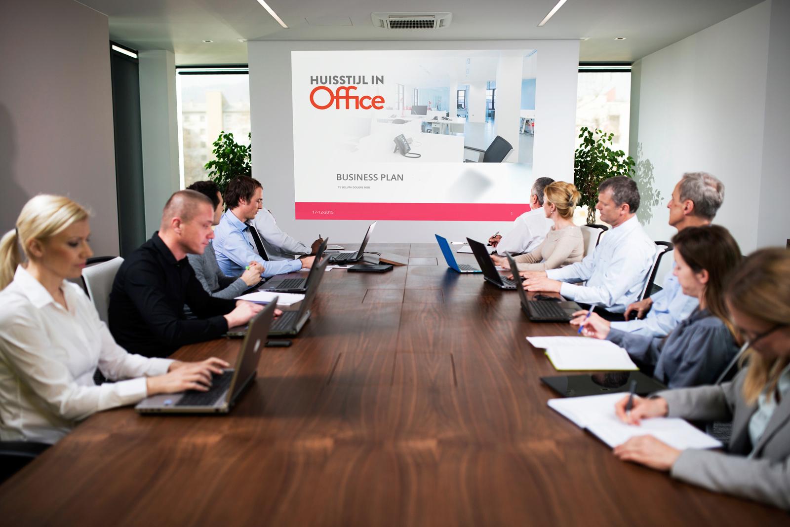 PowerPoint template van Huisstijl in Office